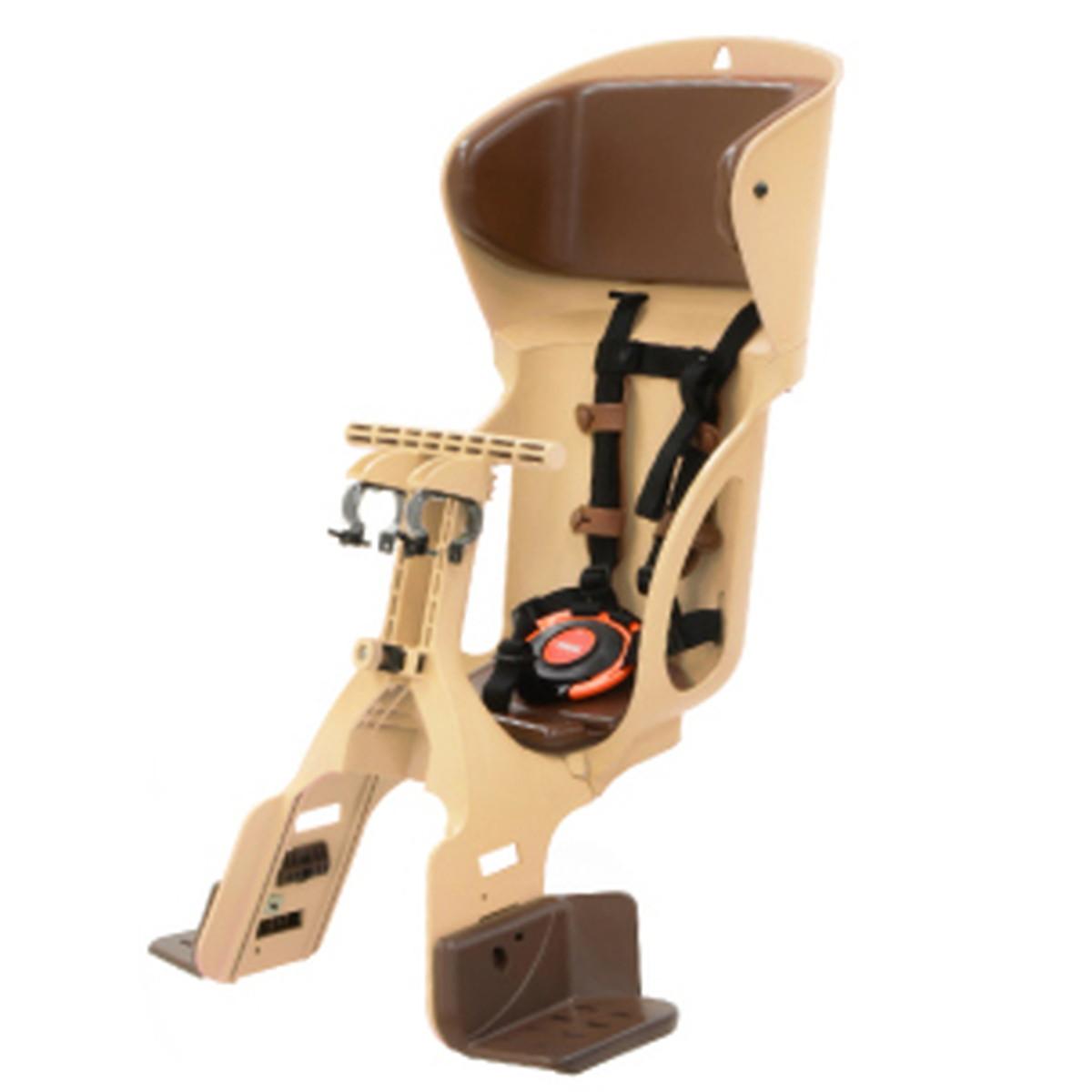 安心感をスマートに カジュアルフロントベビーシート OGK オージーケー FBC-015DX カフェ 茶 新作続 ファクトリーアウトレット 自転車用品 前子供乗せ フロントチャイルドシート