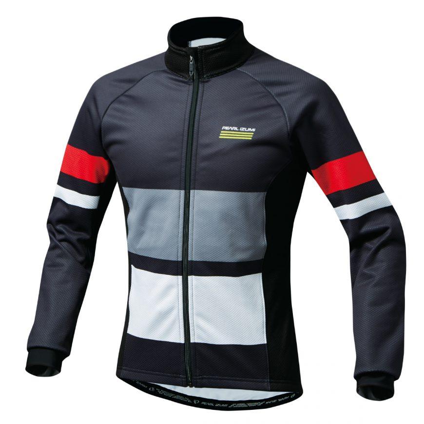 PEARL IZUMI パールイズミ ウィンドブレーク プリント ジャケット XLサイズ ブラック 3555-BL-6-XL 自転車用品 サイクルウェア サイクルジャケット