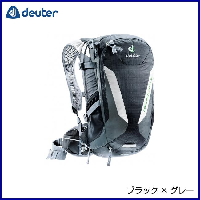 deuter ドイター コンパクトEXP12 ブラック×グレー リュックサック バックパック 登山 ドイター アウトドア 自転車 アウトドア 登山 MTB, 大玉村:dd02ef86 --- aigen.ai