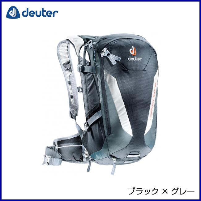 deuter ドイター コンパクトEXP16 ブラック×グレー リュックサック バックパック 登山 アウトドア 自転車 MTB