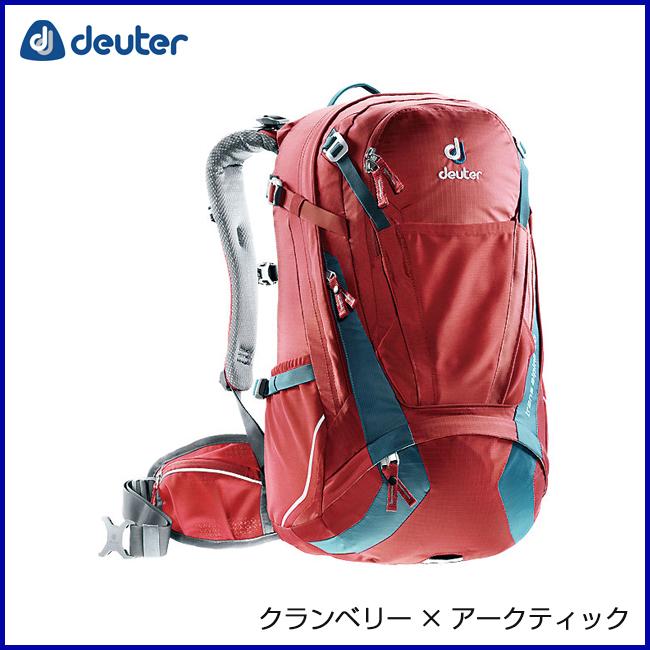deuter ドイター トランスアルパイン30 クランベリー×アークティック リュックサック バックパック 登山 アウトドア 自転車 MTB