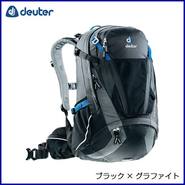 deuter ドイター トランスアルパイン30 ブラック×グラファイト リュックサック バックパック 登山 アウトドア 自転車 MTB