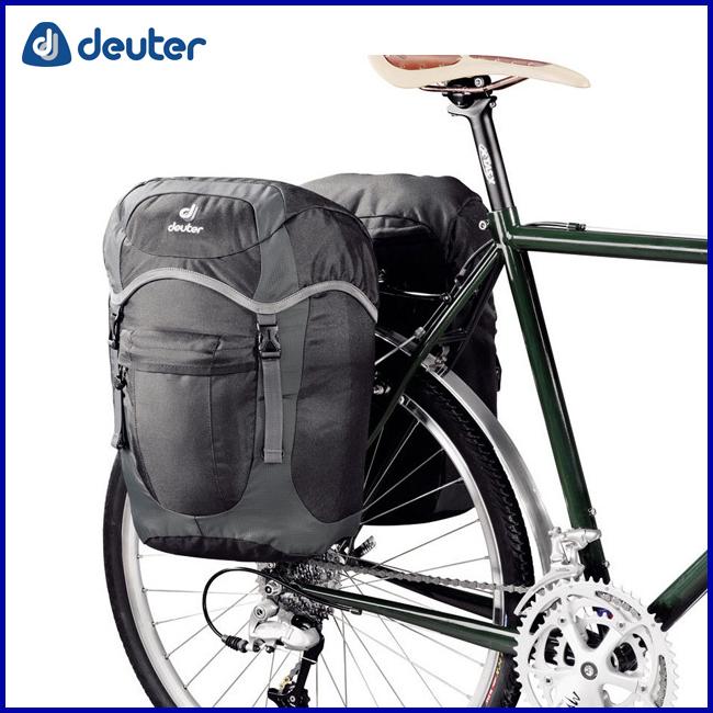 deuter ドイター ラックパックユニ ブラック×グレー ツーリング用サイドバッグ 自転車 mtb