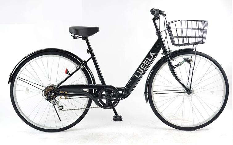 21Technology/21テクノロジー シティサイクル 折りたたみ自転車 26インチ ジェットブラック(CTA266-2018)