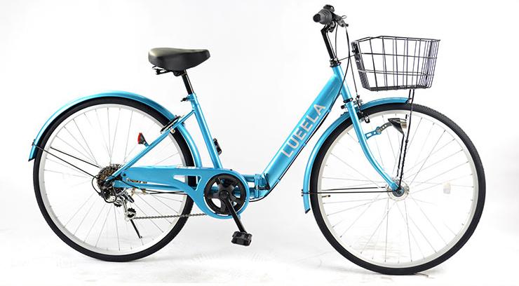 21Technology/21テクノロジー シティサイクル 折りたたみ自転車 26インチ ライトブルー(CTA266-2018)