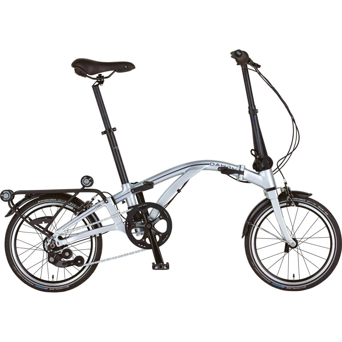 折りたたみでコンパクト、キャリーのようにコロコロ運べます。お手軽フォールディングバイク! DAHON/ダホン Curl i4 カール i4 クローム(9038) 折りたたみ自転車 自転車本体 キャリー
