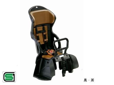 安心感をスマートに カジュアルリヤキッズシート OGK オージーケー RBC-015DX 黒 与え 後ろ子供乗せ セール品 茶 リヤチャイルドシート 自転車用品