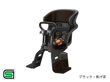 OGK/オージーケー技研 フロントチャイルドシート FBC-011DX3 ブラック/こげ茶(63845-O103) 1~4才未満用 自転車前用子供乗せ