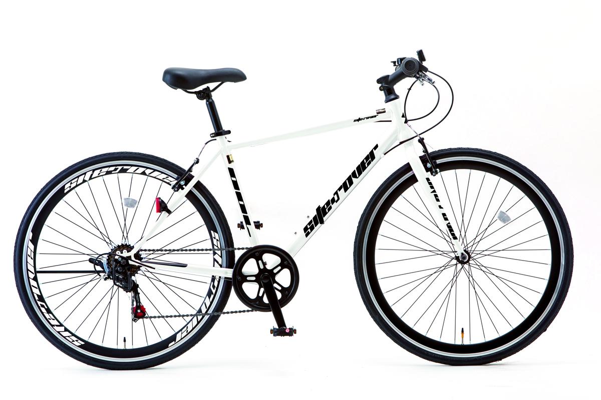 SHIONO/塩野自転車 700XF-W08 SITEROVER/サイトロバー 700C クロスバイク スノーホワイト(7802) スポーツバイク 自転車本体