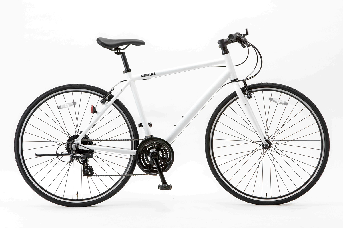 SHIONO/塩野自転車 700XL-460-W08 SITE AL/サイトAL 700C クロスバイク スノーホワイト(7808) スポーツバイク 自転車本体