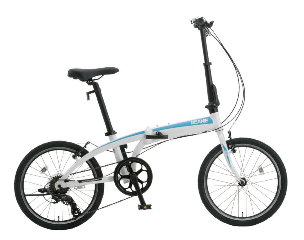 SHIONO/塩野自転車 20QL-6-W08 BEANIE/ビーニー 20インチ スノーホワイト(7813) 折りたたみ自転車 自転車本体