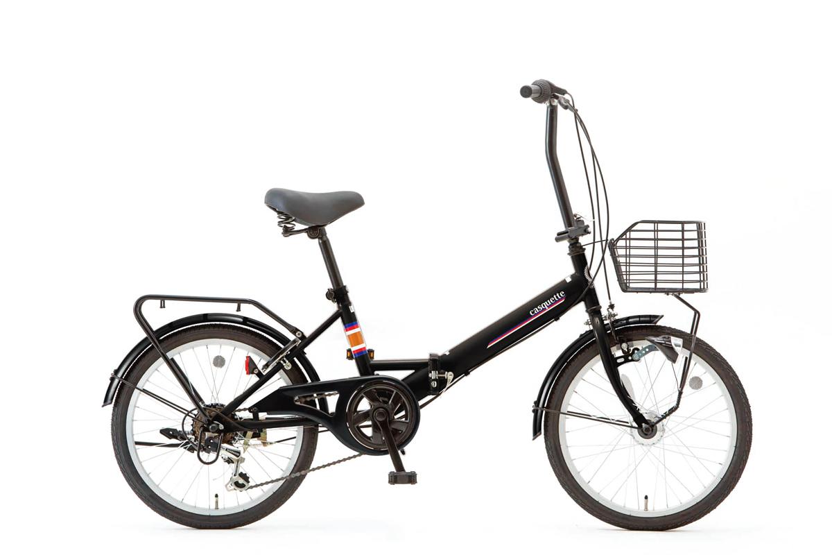 SHIONO/塩野自転車 20QE-6-HD-G-K01 CASQUETTE/キャスケット 20インチ ピアノブラック(7815) 折りたたみ自転車 自転車本体