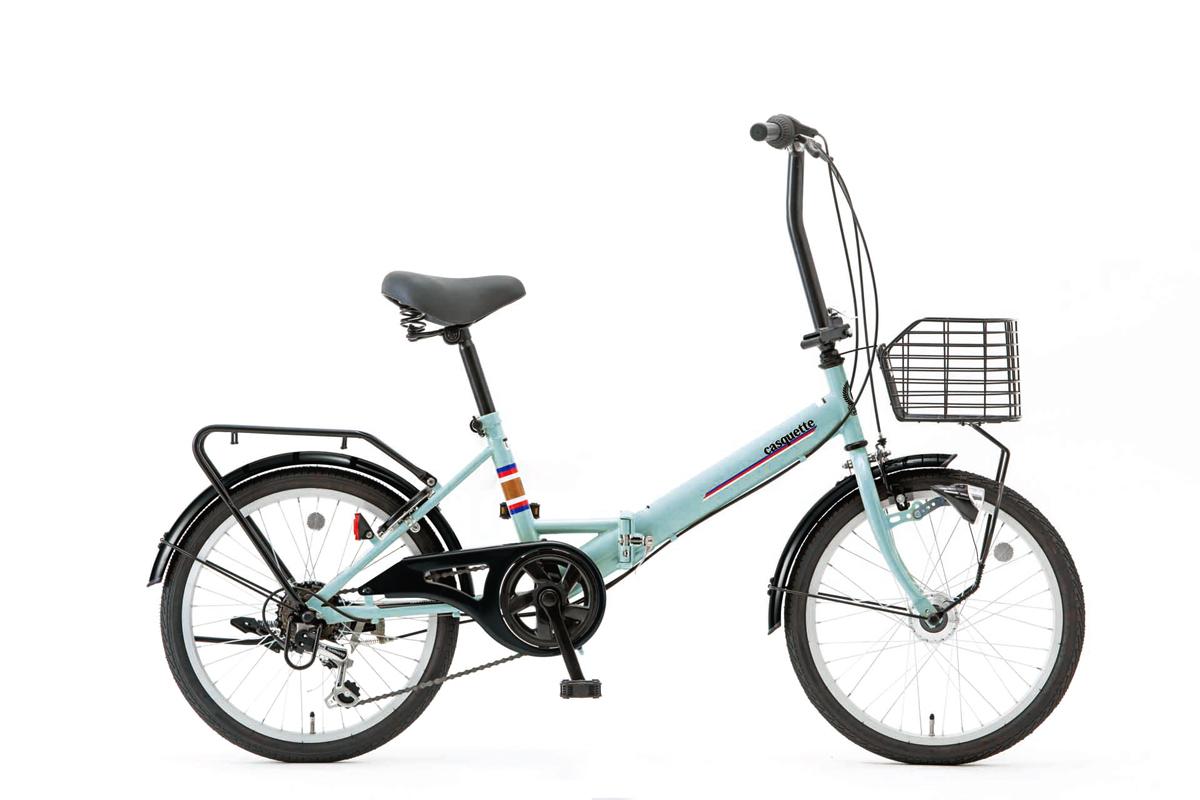 SHIONO/塩野自転車 20QE-6-HD-G-G12 CASQUETTE/キャスケット 20インチ サワーグリーン(7817) 折りたたみ自転車 自転車本体