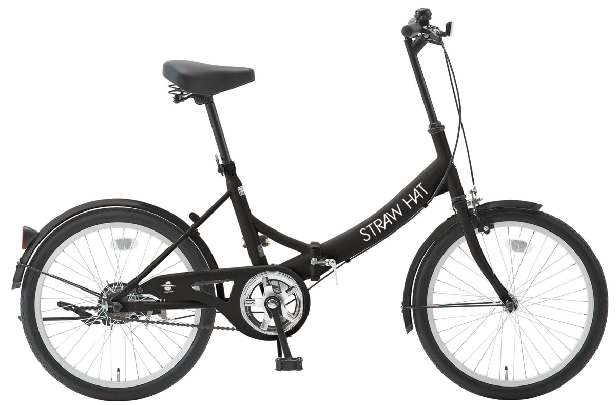 SHIONO/塩野自転車 20FP-K01 STRAW HAT/ストローハット 20インチ ピアノブラック(7819) 折りたたみ自転車 自転車本体