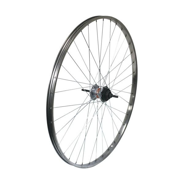 敷島 後輪 27 × 1 3/8 内装3段 ローラーブレーキ ステンレスリム 27インチ ホイール 車輪 自転車