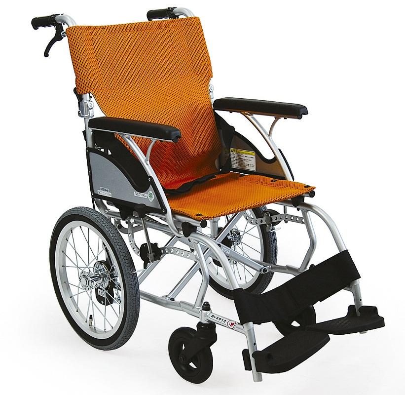 軽量 折りたたみ車椅子(車いす) カワムラサイクル製 AYL16-38(40)バネックスシート【メーカー正規保証付き/条件付き送料無料】