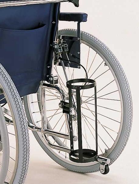 車椅子専用オプション(カワムラサイクル製専用)RR40.50シリーズ専用酸素ボンベ架リクライニング車椅子RRシリーズ専用オプション