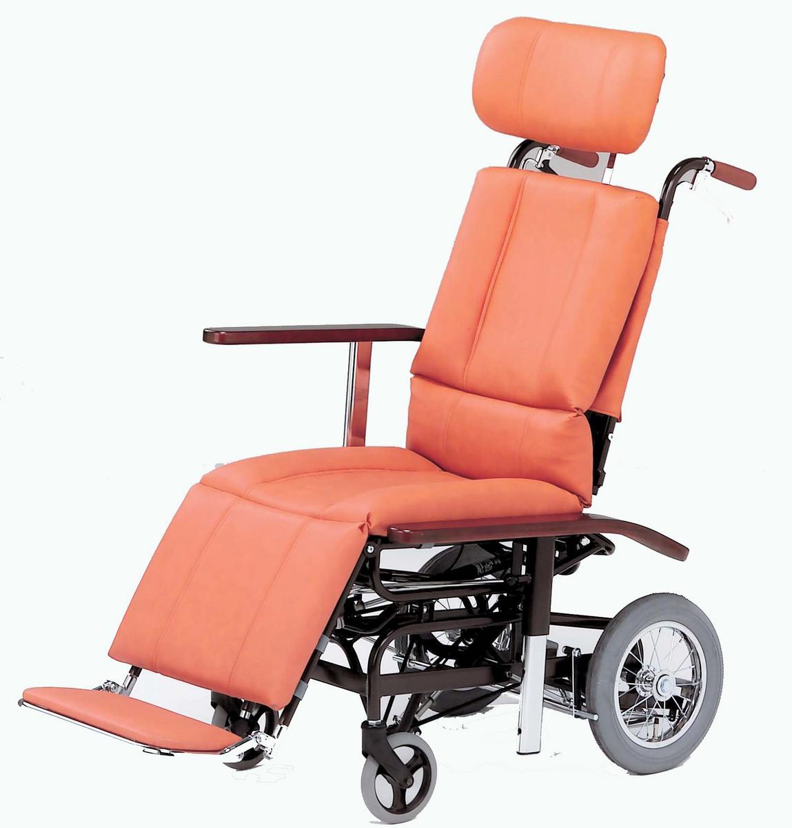 リクライニング車椅子(車いす) 日進医療器製 NHR-7【メーカー正規保証付き/条件付き送料無料】