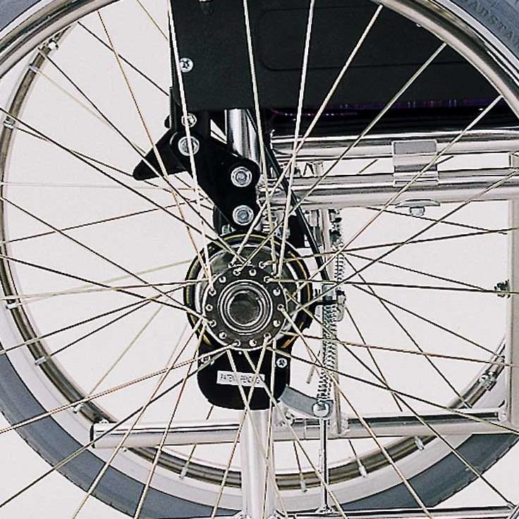 車椅子専用オプション(カワムラサイクル製専用)バンド式介助ブレーキ取付け