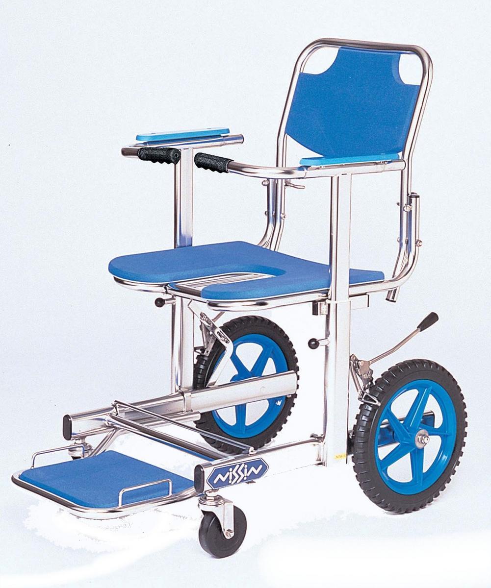 入浴用車椅子(車いす)日進医療器 NSW-10 ステンレスシャワーチェア 30%off【メーカー正規保証付き/条件付き送料無料】