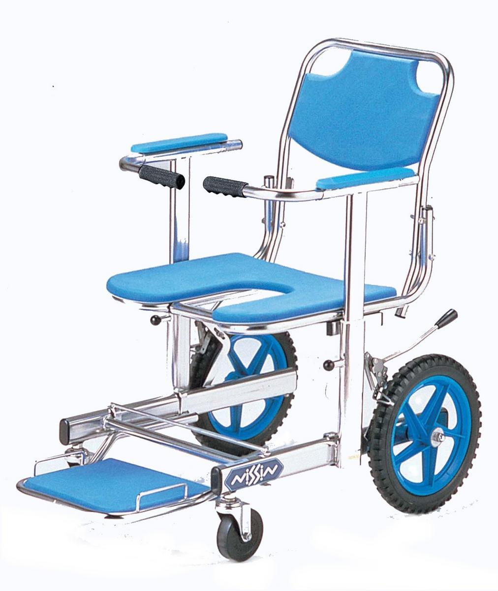 入浴用車椅子(車いす) 日進医療器製  NSW-12【メーカー正規保証付き/条件付き送料無料】