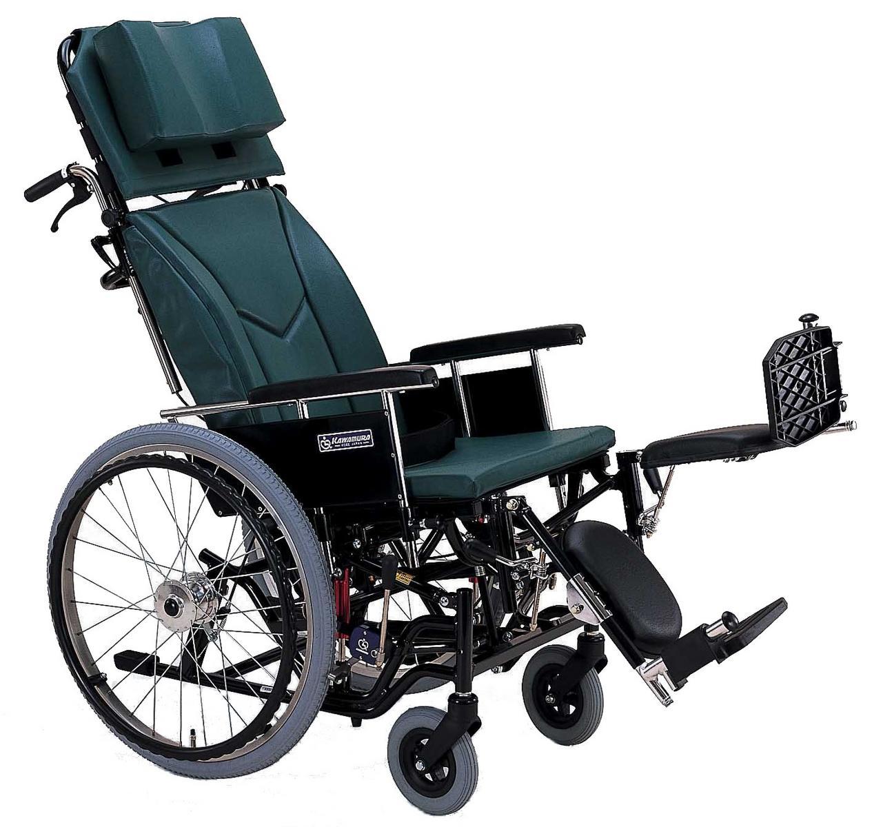 ティルト&リクライニング車椅子(車いす) カワムラサイクル製 KX22-42EL【メーカー正規保証付き/条件付き送料無料】