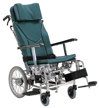ティルト&リクライニング車椅子(車いす) カワムラサイクル製 KXL16-42【メーカー正規保証付き/条件付き送料無料】