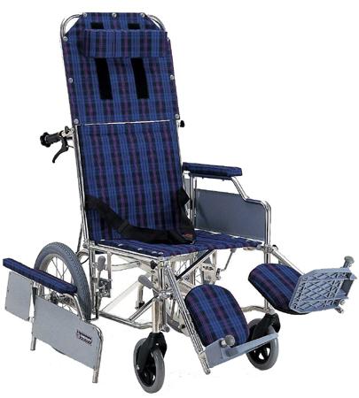 フルリクライニング車椅子(車いす) カワムラサイクル製 RR53-DN【メーカー正規保証付き/条件付き送料無料】