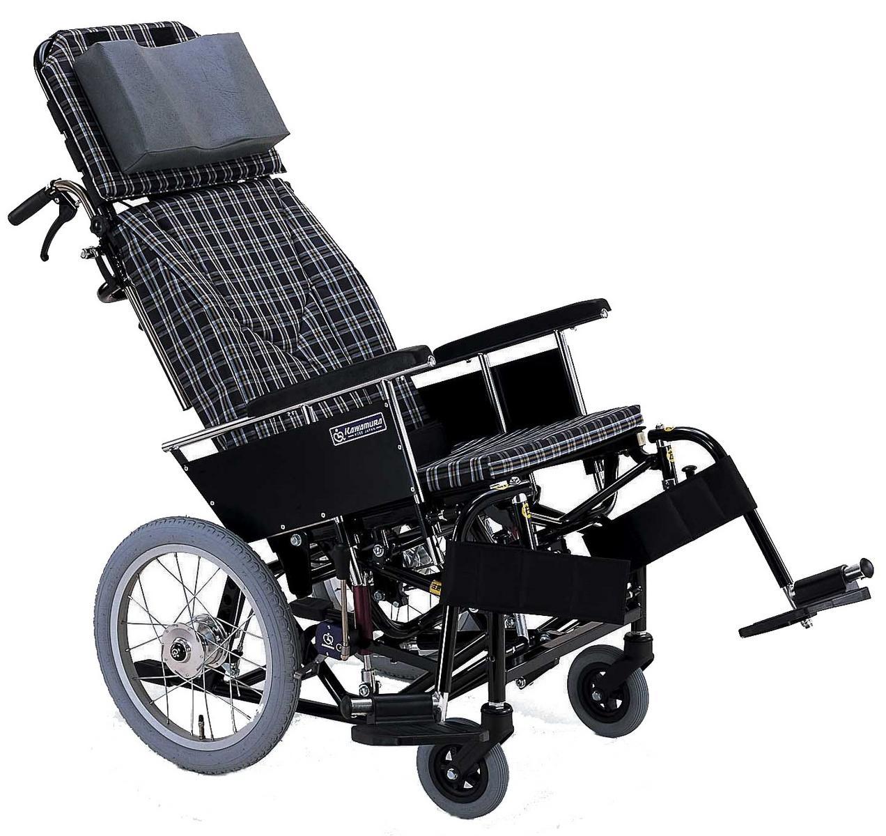 ティルト&リクライニング車椅子(車いす) カワムラサイクル製 KX16-42N【メーカー正規保証付き/条件付き送料無料】