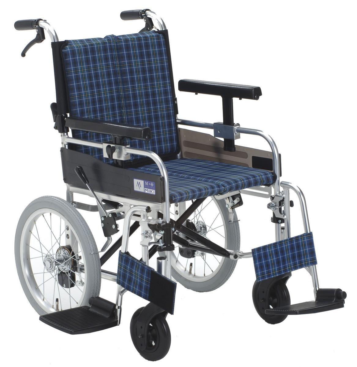 車椅子(車いす)ミキ製 MYU-166JDSW【メーカー正規保証付き/条件付き送料無料】