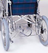 車椅子専用オプション(日進医療器専用)リクライニング車用・酸素ボンベ架台KF-20R