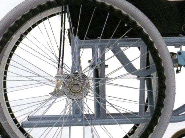 車椅子専用オプション(松永製作所専用)リクライニング車専用(MW/CM用)ドラム式介助ブレーキ