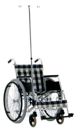 車椅子専用オプション(松永製作所専用)前方ガートル架セット・アルミ伸縮式ガードル棒