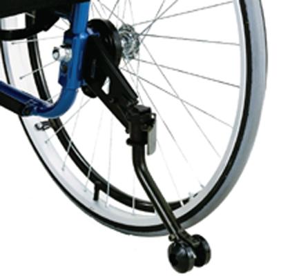 車椅子専用オプション(日進医療器専用)iS用折りたたみ式転倒防止装置(左右一組)