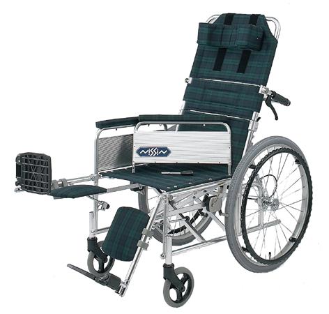 リクライニング車椅子(車いす) 日進医療器製 NA-117B(自走用)【メーカー正規保証付き/条件付き送料無料】