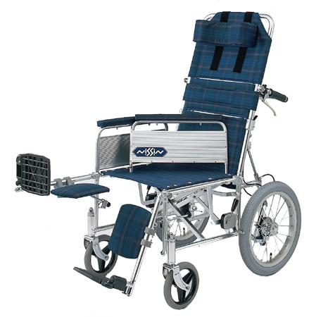 リクライニング車椅子(車いす) 日進医療器製 NA-118B(介助用車椅子)【メーカー正規保証付き/条件付き送料無料】