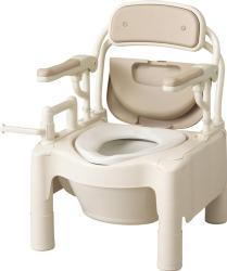 ポータブルトイレ アロン化成 FX-CPSDはねあげ快適脱臭(534-530)送料無料