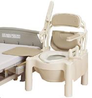 ポータブルトイレ アロン化成 FX-CPSD-TCはねあげ快適脱臭とトランスファータイプとキャスタ付(870-106)送料無料