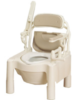 ポータブルトイレ アロン化成 FX-CPS-Cはねあげソフト便座とキャスター付(870-084)送料無料