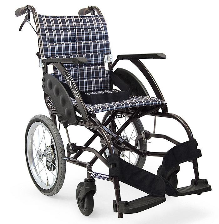 軽量 折りたたみ車椅子(車いす) カワムラサイクル製 WAVIT(ウェイビット) WA16-40S(42S) /WA16-40A(42A)【メーカー正規保証付き/条件付き送料無料】