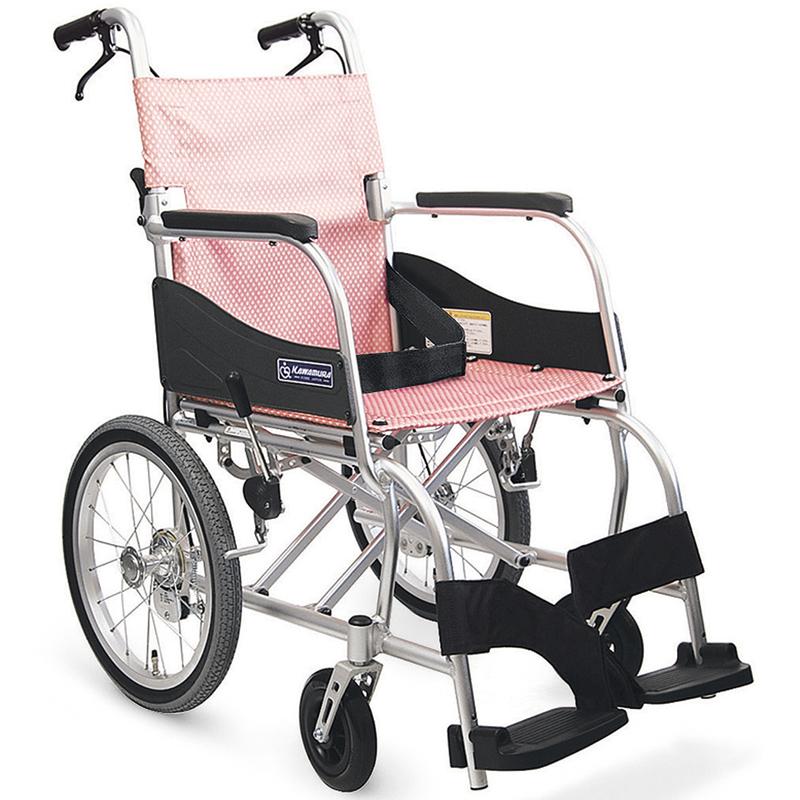 新色含む計4色 軽量 折りたたみ車椅子(車いす) カワムラサイクル製 ふわりすKF16-40(42)SB【メーカー正規保証付き/条件付き送料無料】┃新色・アイスグリーン色・あんずイエローあり