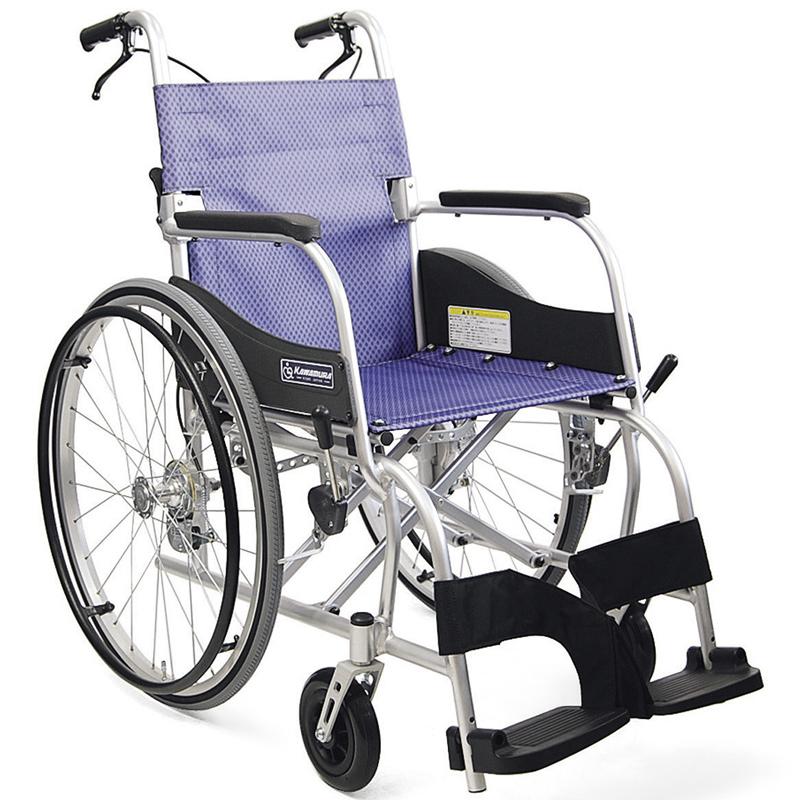 新色含む計4色 軽量 折りたたみ車椅子(車いす) カワムラサイクル製 ふわりすKF22-40(42)SB【メーカー正規保証付き/条件付き送料無料】┃新色・アイスグリーン色・あんずイエローあり