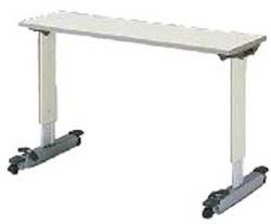 パラマウントベッド製|オーバーベッドテーブル■KF-833LA/KF-833SA(アイボリー)テーブル移動ロック機構付き【1年間メーカー正規保証付き・送料無料】