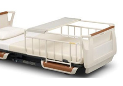 パラマウントベッド製|オーバーテーブル■KQ-060L/KQ-060M/KQ-060W(ベッドサイドレールに載せるタイプ)