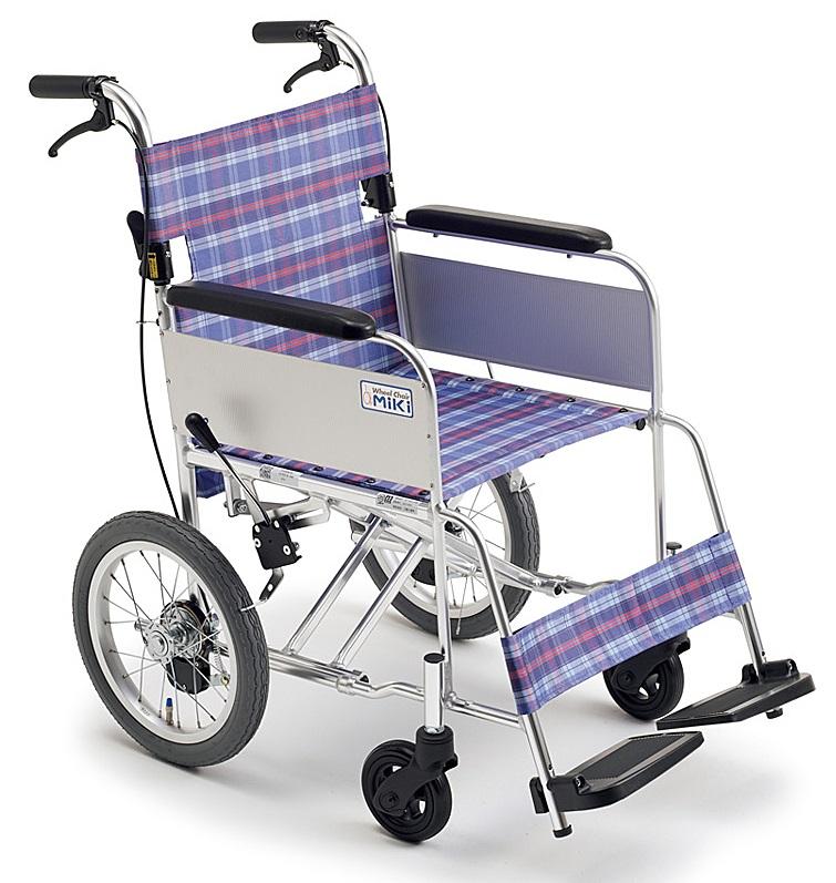 軽量 折りたたみ車椅子(車いす)ミキ製 MC-43KSP【メーカー正規保証付き/条件付き送料無料】