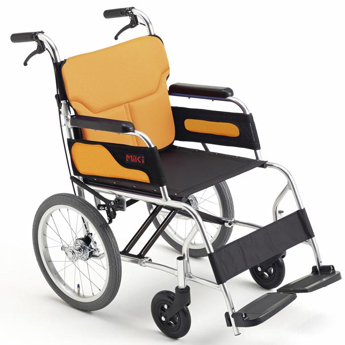 軽量 折りたたみ車椅子 日本製(車いす)ミキ製 MC-43RK(Caroon/カル~ン)【メーカー正規保証付き/条件付き送料無料】
