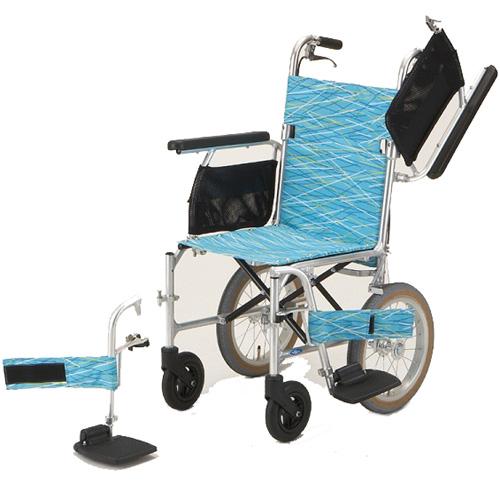 軽量 折りたたみ車椅子(車いす) 日進医療器製 NAH-L7W(軽7W)【メーカー正規保証付き/条件付き送料無料】