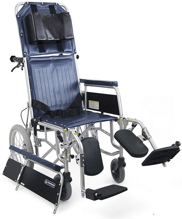 フルリクライニング車椅子(車いす) カワムラサイクル製 RR43-NB【メーカー正規保証付き/条件付き送料無料】