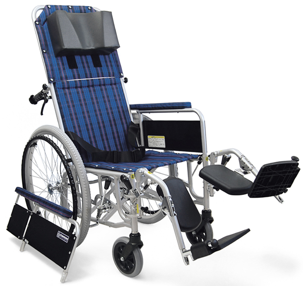 フルリクライニング車椅子(車いす) カワムラサイクル製 RR52-DN【メーカー正規保証付き/条件付き送料無料】