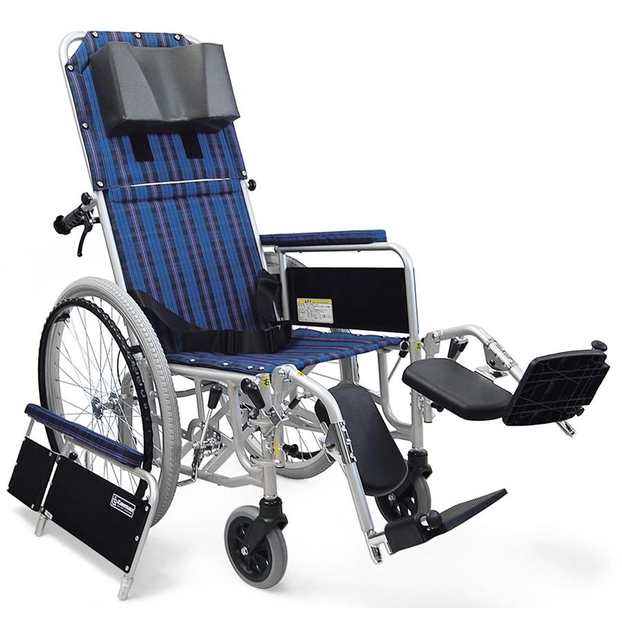 フルリクライニング車椅子(車いす) カワムラサイクル製 RR52-NB【メーカー正規保証付き/条件付き送料無料】